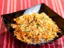 Рецепта Салата с китайско зеле, боб, лютеница и царевица
